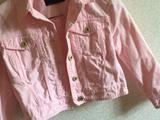 Розовая джинсовая курточка